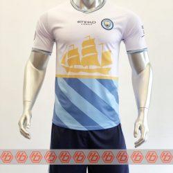 Quần áo bóng đá CLB Man City Fanmade màu Trắng mùa giải 21-22