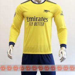 Áo Arsenal tay dài màu vàng 2021-2022