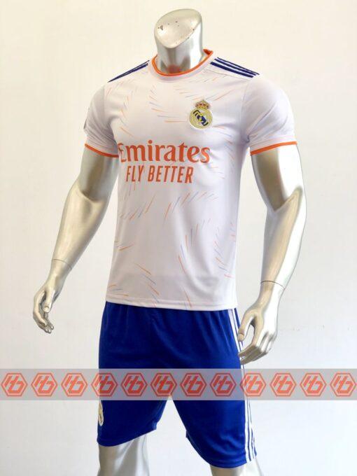 Quần áo bóng đá CLB Real Madrid màu Trắng mùa giải 21-22