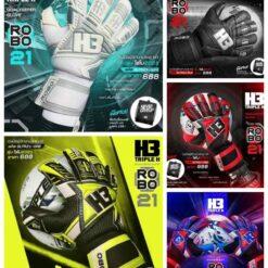 Găng tay thủ môn H3 5 màu cao cấp