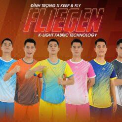 Áo bóng đá không logo Keep&Fly - Fliegen vải mè cao cấp 6 màu