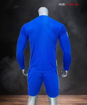 Quần áo bóng đá tay dài CLB Chelsea màu Xanh bích mùa giải 21-22