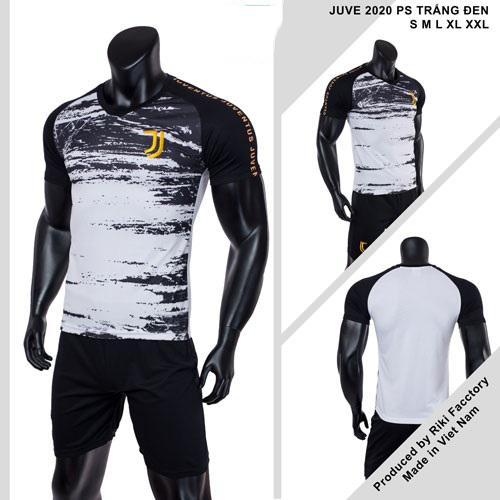 Quần áo bóng đá CLB Juventus màu Trắng đen