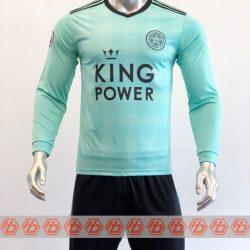 Áo Leicester tay dài màu xanh ngọc 2021-2022