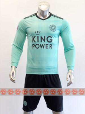 Quần áo bóng đá tay dài CLB LEICESTER màu Xanh ngọc mùa giải 21-22