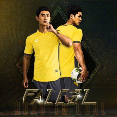 Áo bóng đá không logo Bul Bal - Fancol màu VÀNG