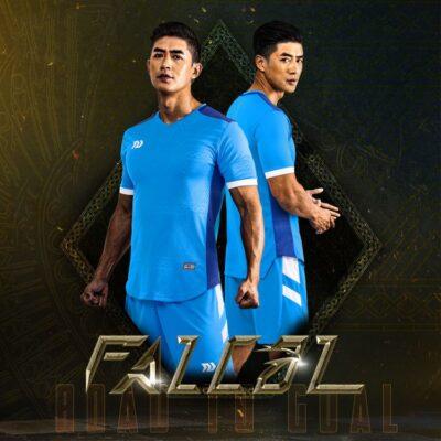 Áo bóng đá không logo Bul Bal - Fancol màu XANH DA