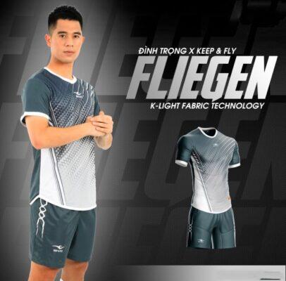 Áo bóng đá không logo Keep&Fly - Fliegen màu Đen