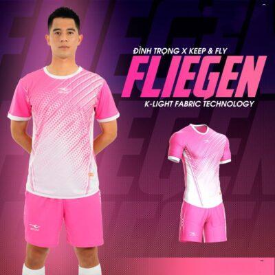 Áo bóng đá không logo Keep&Fly - Fliegen màu Hồng