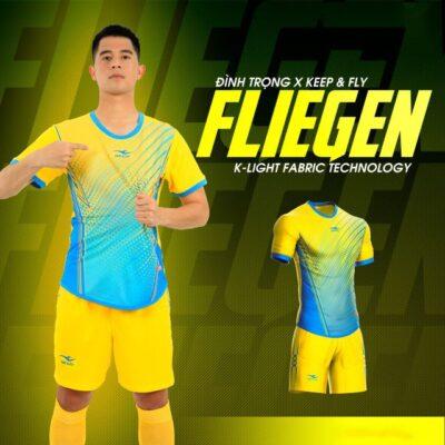 Áo bóng đá không logo Keep&Fly - Fliegen màu Vàng