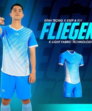 Áo bóng đá không logo Keep&Fly - Fliegen màu Xanh da