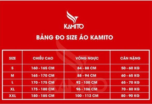 Bảng size quần áo Kamito