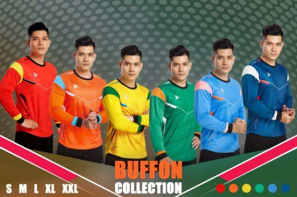 Áo thủ môn không logo thiết kế Just Play - BUFFON vải mè Thái cao cấp 6 màu