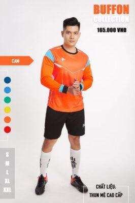 Áo thủ môn không logo thiết kế Just Play - BUFFON màu Cam