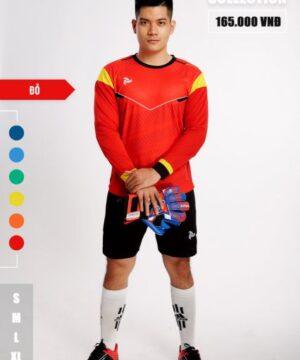 Áo thủ môn không logo thiết kế Just Play - BUFFON màu Đỏ