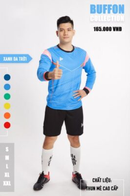 Áo thủ môn không logo thiết kế Just Play - BUFFON màu Xanh da