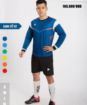 Áo thủ môn không logo thiết kế Just Play - BUFFON màu xanh đen