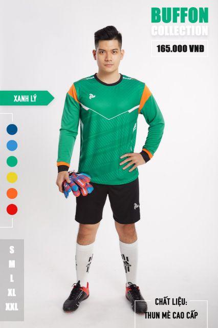 Áo thủ môn không logo thiết kế Just Play - BUFFON màu Xanh lá