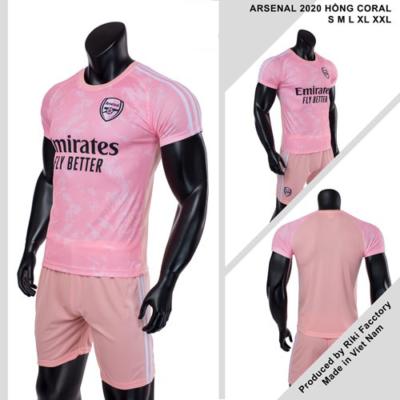 Quần áo Arsenal vải mè thái màu hồng