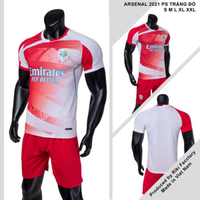 Quần áo Arsenal vải mè thái màu đỏ