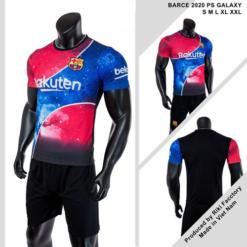 Quần áo Barcelona vải mè thái màu Xanh
