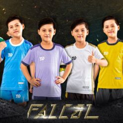 Áo bóng đá trẻ em không logo BU-Falcol vải mè cao cấp 6 màu
