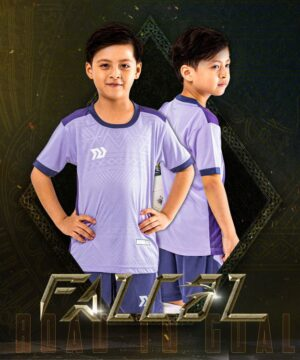 Áo bóng đá trẻ em không logo BU- Falcol màu Tím