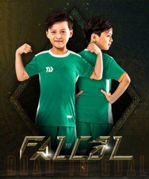 Áo bóng đá trẻ em không logo BU- Falcol màu xanh lý