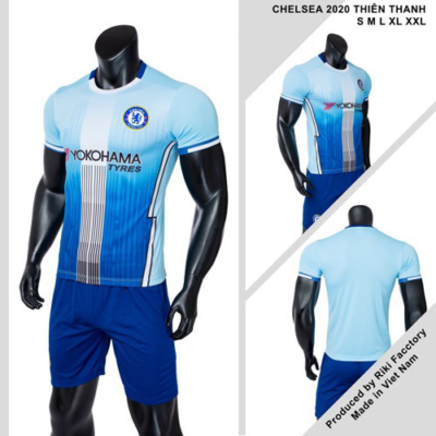 Quần áo Chelsea vải mè thái màu Xanh biển