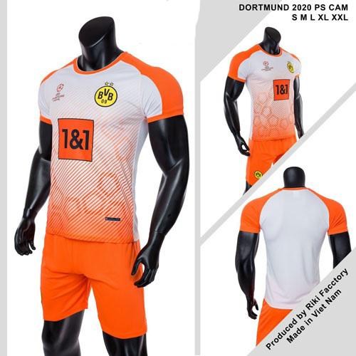 Quần áo Dortmund vải mè thái màu Cam