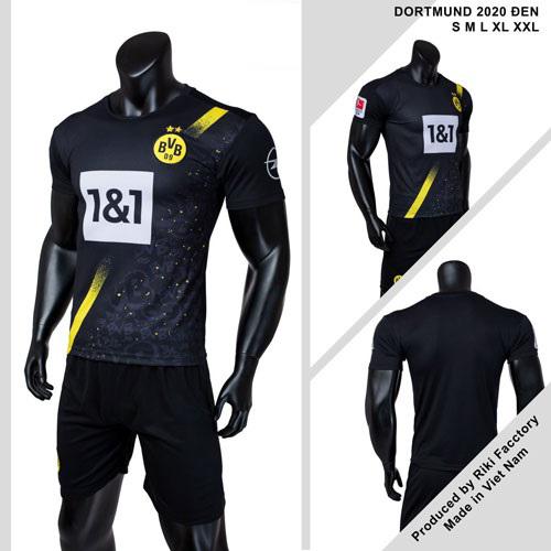 Quần áo Dortmund vải mè thái màu Đen