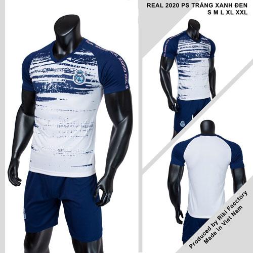 Quần áo bóng đá CLB Real Madrid màu xanh đen