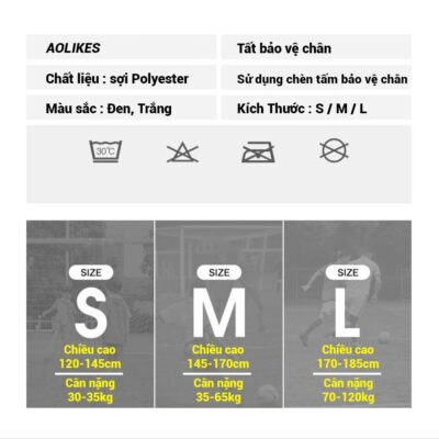 Tất Vớ Bóng Đá Bảo Vệ Ống Đồng Aolikes AL7968 ( 1 cặp )
