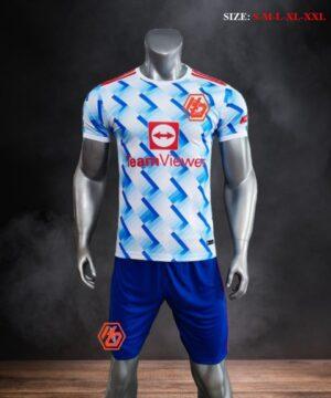 Quần áo bóng đá CLB M-U màu Trắng bích mùa giải 21-22