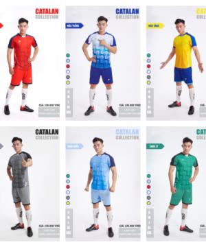 Áo bóng đá không logo thiết kế Just Play - CATALAN thun lạnh cao cấp 6 màu
