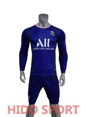 Áo PSG tay dài màu xanh đen 2021-2022