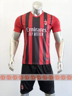 Áo AC Milan sân nhà màu đỏ sọc đen 2021-2022