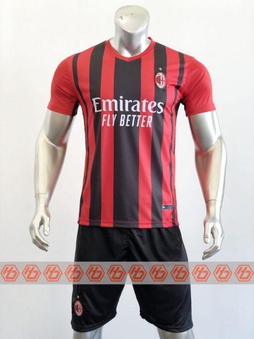 Áo AC Milan sân nhà màu đen đỏ 2021-2022