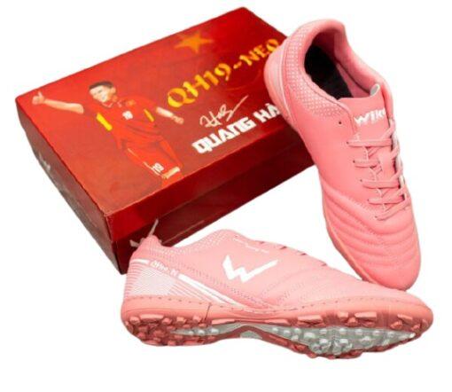 Giày Wika QH19NEO đế Đinh TF màu hồng