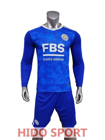 Quần áo Bóng đá Tay Dài Leicester Màu Xanh Bích Mùa Giải 21 22