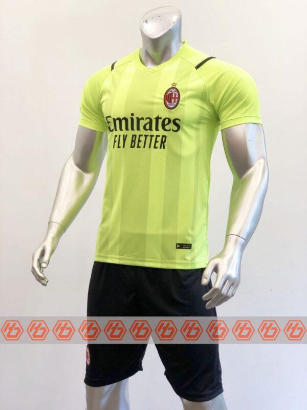 Quần áo bóng đá CLB AC MILAN màu Xanh Dạ Quang mùa giải 21-22