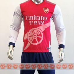 Áo Arsenal Fanmade tay dài màu đỏ 2021-2022