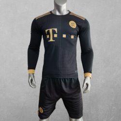 Quần áo bóng đá tay dài CLB Bayern Munich màu Đen mùa giải 21-22