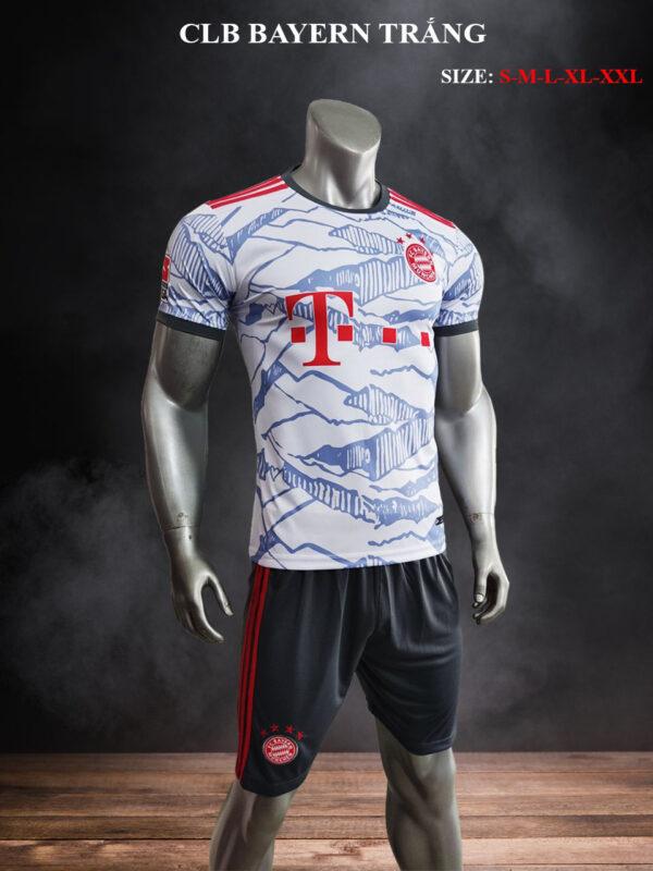 Quần áo bóng đá CLB Bayern Munich màu Trắng mùa giải 21-22