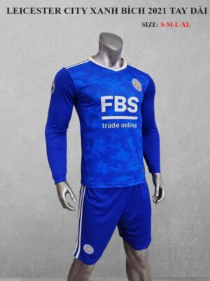 Quần áo bóng đá tay dài CLB LEICESTER màu Xanh bích mùa giải 21-22