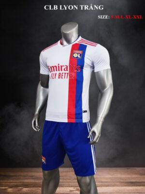 Quần áo bóng đá CLB Lyon màu Trắng mùa giải 21-22