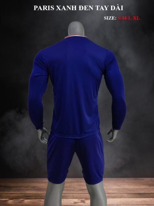 Quần áo bóng đá tay dài CLB PSG màu Xanh đen mùa giải 21-22