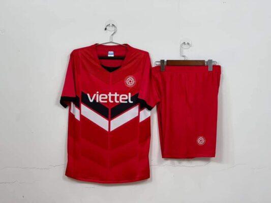 Quần áo bóng đá CLB Viettel Training màu Đỏ mùa giải 21-22