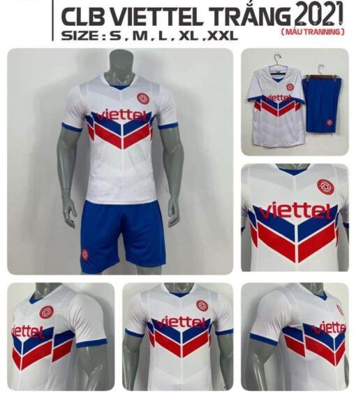 Quần áo bóng đá CLB Viettel Training màu Trắng mùa giải 21-22