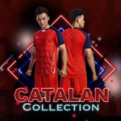 Áo bóng đá không logo thiết kế Just Play - CATALAN màu đỏ